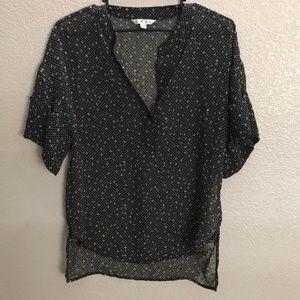 CAbi cuffed sleeve blouse
